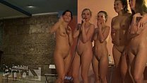 Nude boy shower young