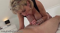Mature hand job with young