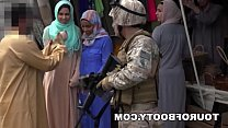 Soldiers fistfuck arab girl
