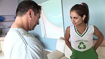 Hot teen brunette gets drilled